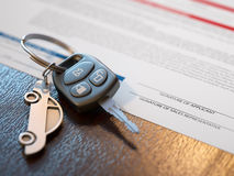 Autokredit-Anwendung Stockfotos