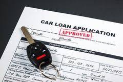 Autokredit-Anwendung genehmigte 002 Lizenzfreies Stockfoto