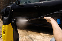 Autolavaggio ad alta pressione dell'acqua Immagine Stock Libera da Diritti