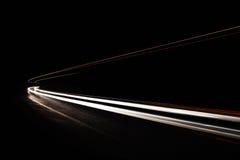 Autoleuchtespuren im Tunnel Lizenzfreie Stockbilder