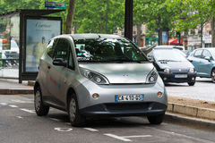 Autolib' electric car sharing service in Paris Stock Photo