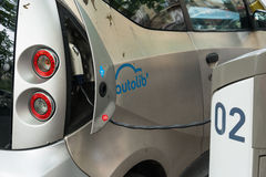 Autolib' electric car sharing service in Paris Royalty Free Stock Images