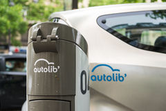 Autolib' electric car sharing service in Paris Stock Image