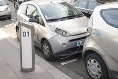 Autolib, electric car sharing service in Paris, France Stock Images