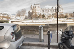 Autolib, electric car sharing service in Paris, France Royalty Free Stock Image