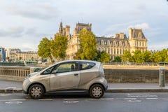 An Autolib' in Paris, France Royalty Free Stock Photos