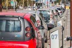 AUTOLIB samochód parkujący i dostępny klienci Obraz Stock