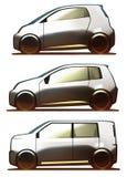 Autolichaam Microcar, Stadsauto en kei-Auto Stock Afbeeldingen