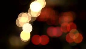 Autolichten in de Stad van New York bij nacht stock videobeelden