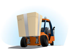Autoloader with a big box Royalty Free Stock Photography