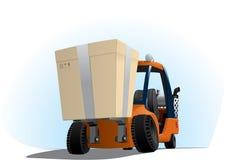 Autoloader com uma caixa grande Fotografia de Stock Royalty Free