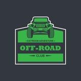 Autologoillustration nicht für den Straßenverkehr, Emblem Lizenzfreies Stockfoto