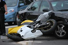 Autolooppas in motorfiets stock foto's