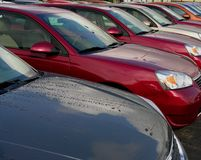 Automóveis novos Imagem de Stock