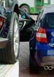Automóveis novos para a venda. foto de stock royalty free