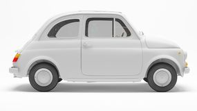 Automóvel 3d italiano preto e branco no fundo branco Foto de Stock Royalty Free