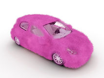 automóvel da menina 3d Imagens de Stock Royalty Free