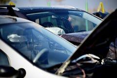 Automóvel de dano após um acidente de viação Imagem de Stock