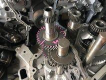 Automóvel do motor da engrenagem do detalhe Fotografia de Stock