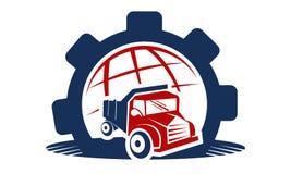 Automóvel global da engrenagem ilustração stock