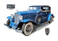 Automóvil americano clásico 12 castaños Fotos de archivo libres de regalías