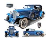 Automóvil americano clásico 12 castaños Fotografía de archivo