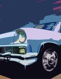 Automóvil azul stock de ilustración
