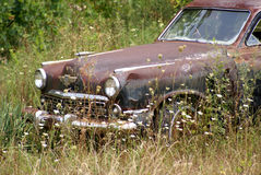 Automóvil de los desperdicios Fotos de archivo libres de regalías