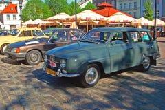 Automóvil de Saab 95 del vintage Imágenes de archivo libres de regalías