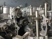 Automóvil del motor del engranaje del detalle Imagen de archivo