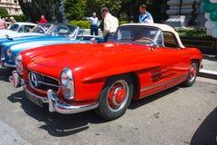 Automóvil descubierto 1957 del Benz 300SL de Mercedes Imagenes de archivo