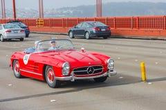Automóvil descubierto 1958 del Benz 300SL de Mercedes Imagenes de archivo