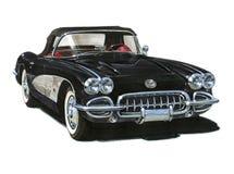 Automóvil descubierto 1959 de Chevrolet Corvette Fotografía de archivo