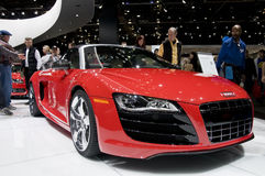 Automóvil descubierto 2011 de Audi R8 en el NAIAS Foto de archivo