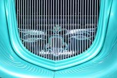 Automóvil descubierto clásico Hotrod de la parrilla del verde del coche Foto de archivo libre de regalías
