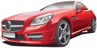 Automóvil descubierto compacto europeo stock de ilustración