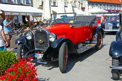 Automóvil descubierto de Dodge, coche clásico Fotos de archivo
