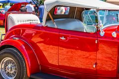 Automóvil descubierto 1932 de Ford Model 18 Fotografía de archivo
