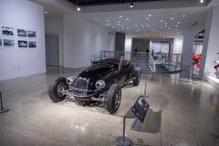 Automóvil descubierto 1927 de la aduana de Ford Model T del negro Fotografía de archivo libre de regalías