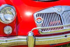 Automóvil descubierto de la leva del gemelo de 1958 MGA Fotos de archivo