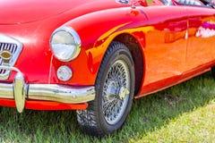 Automóvil descubierto de la leva del gemelo de 1958 MGA Fotos de archivo libres de regalías