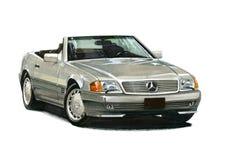 Automóvil descubierto de Mercedes Benz 500SL Fotos de archivo libres de regalías
