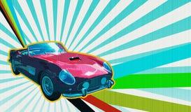 Automóvil descubierto de mirada retro Fotos de archivo