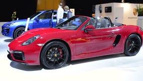 Automóvil descubierto de Porsche Boxster GTS almacen de video