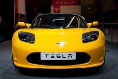 Automóvil descubierto de Tesla Imágenes de archivo libres de regalías