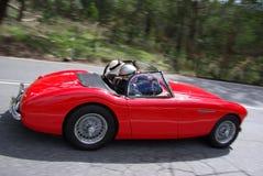 Automóvil descubierto rojo de Austin Healey fotografía de archivo libre de regalías
