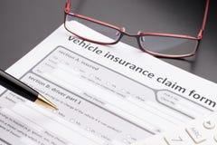 Automóvil, póliza de seguro de coche Fotografía de archivo libre de regalías