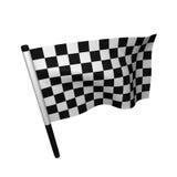 Automóvil que compite con el indicador checkered Fotografía de archivo
