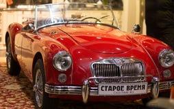 Automóvil retro de los coches de MG imagen de archivo libre de regalías