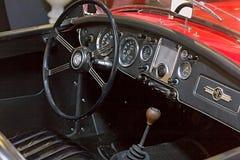 Automóvil retro de los coches de MG imagenes de archivo